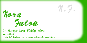 nora fulop business card